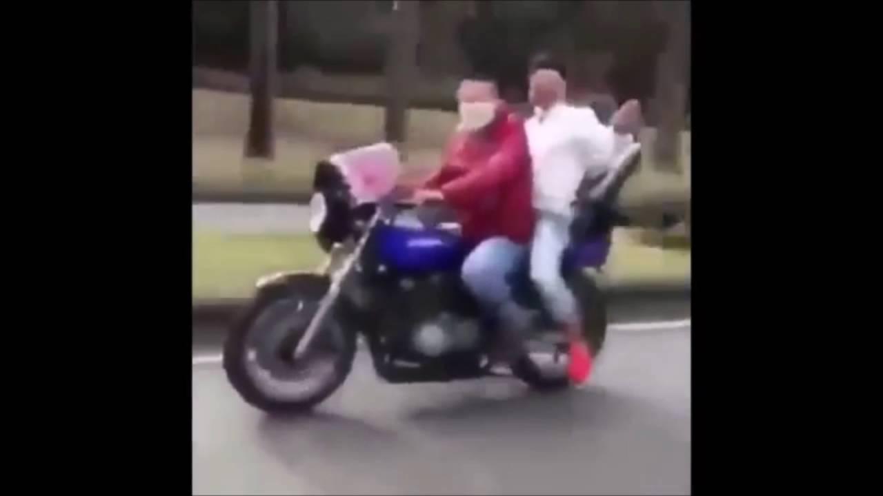 【爆笑】アホDQN 単車で自爆!その瞬間【実録】