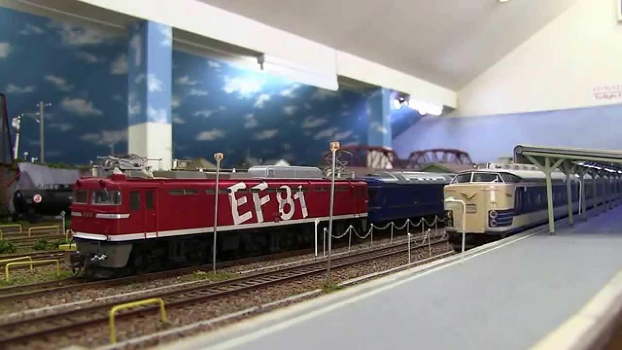 HOゲージ583系・285系新旧電車寝台特急競演