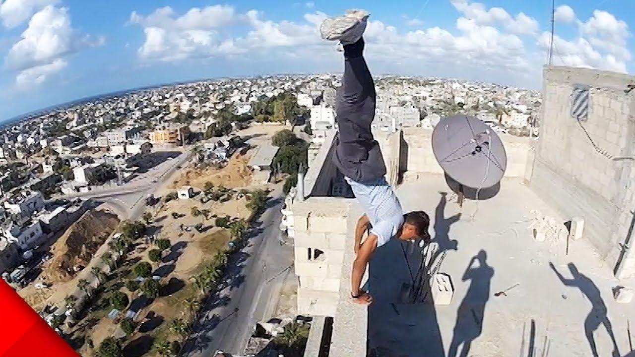 【パルクール】高所での移動手段はこれが一番。凄技映像【Video Pizza】