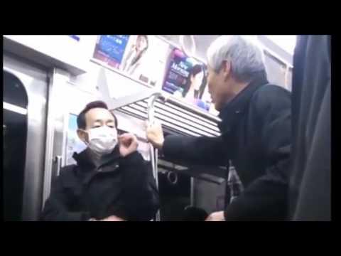 【老害】電車でガチギレ発狂するキチガイ爺さん【じじい】