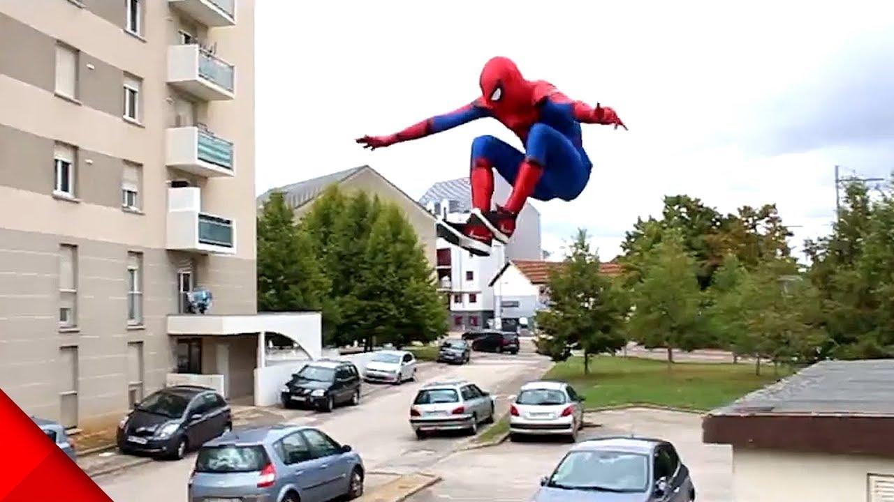 スパイダーマンがパルクール!フリーランニング凄技映像【Video Pizza】