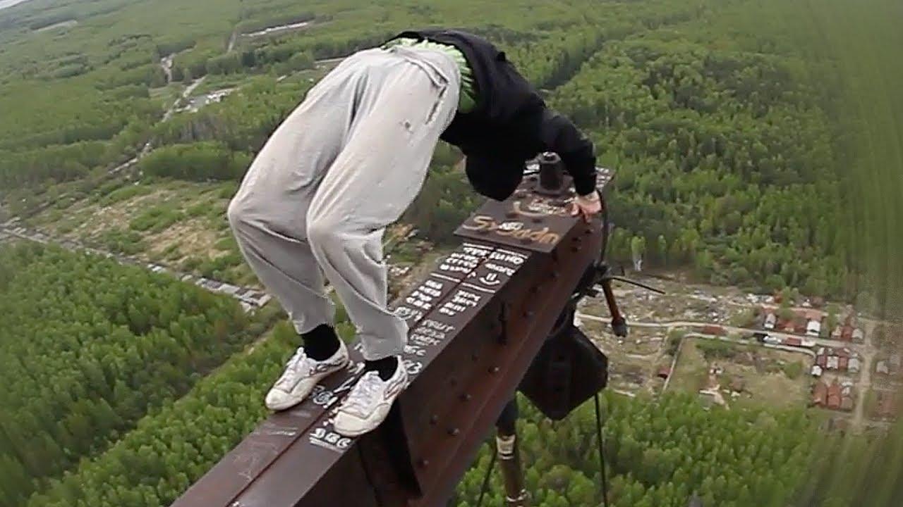 【閲覧注意】高層ビルでパルクール!落ちる一歩前な凄技 パート4【Video Pizza】