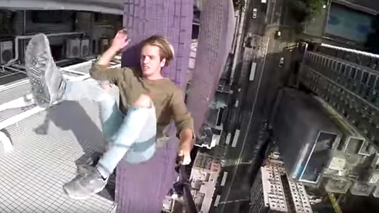 【閲覧注意】高層ビルでパルクール!【Video Pizza】