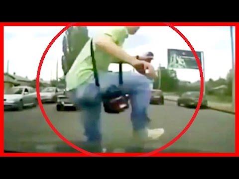【衝撃映像】【閲覧注意】【当たり屋】ドライブレコーダー必搭載! ロシアのキチガイ当たり屋1