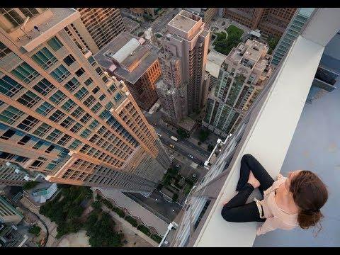 【恐怖】高い所から飛び降りて着地失敗する人 真似厳禁【アクシデント】