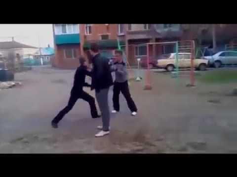 ボクサーに喧嘩を!!ノックアウトシーン!