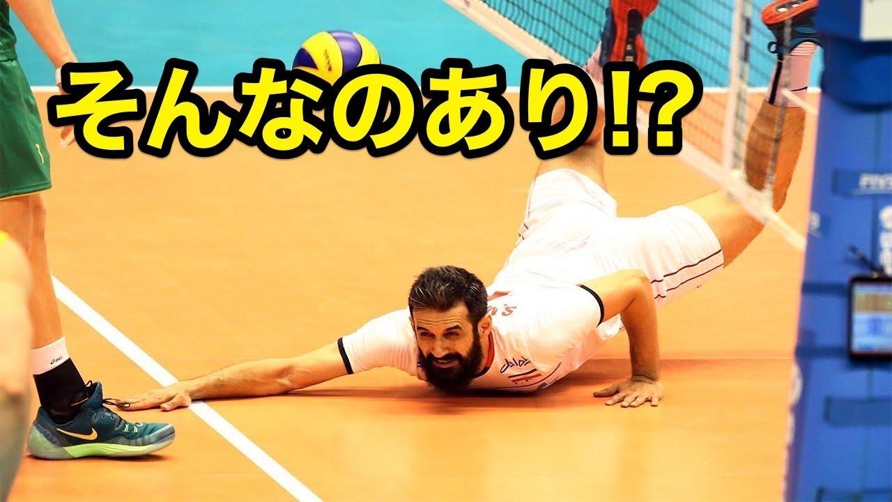 【バレーボール】なんだ今の!?相手もびっくりの珍プレー【スーパープレイ】The opponent also surprised unusual play【Volleyball】
