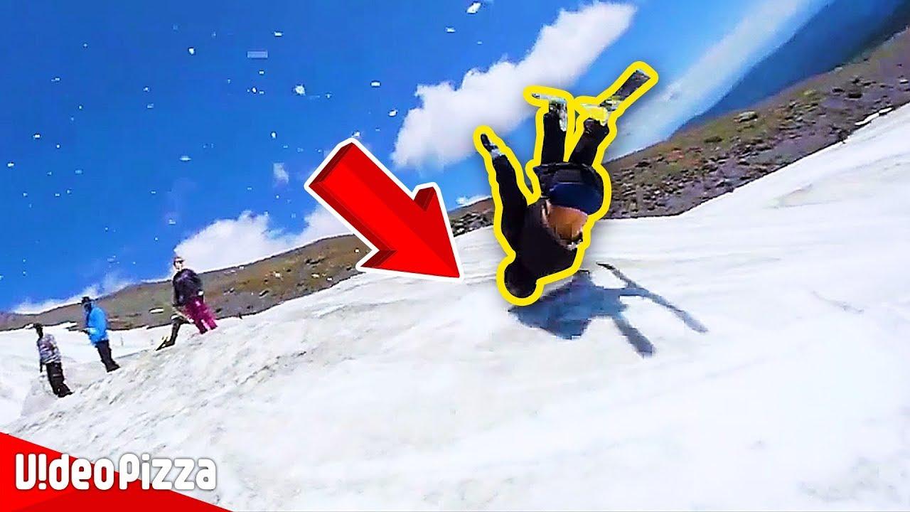 【神業】思わず二度見!ギリギリなスキーの凄技動画【Video Pizza】