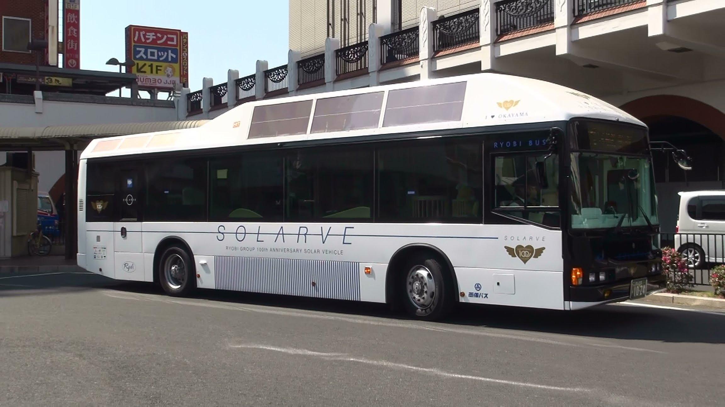 【世界に1台】 岡山・両備バスの未来バス「ソラビ(SORARVE)」2013/03/15
