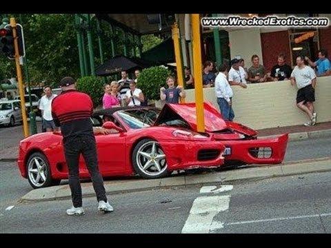 高級車,スーパーカー事故の瞬間特集
