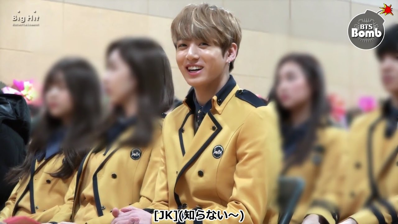 日本語字幕[BANGTAN BOMB] Jung Kook went to High school with BTS for graduation!