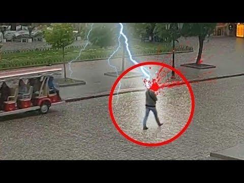 雷が直撃する瞬間6選