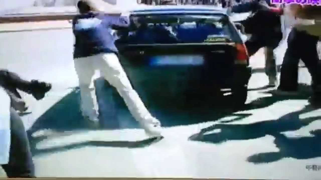 【衝撃映像】女子高生がひかれ乗り上げる瞬間!