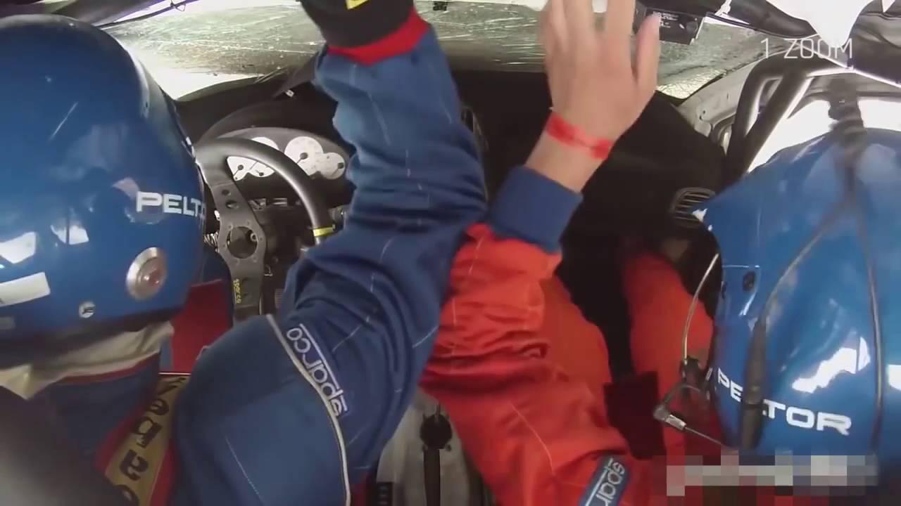 【ラリーカー】クラッシュで転がる車内カメラ映像 【横転、出火】