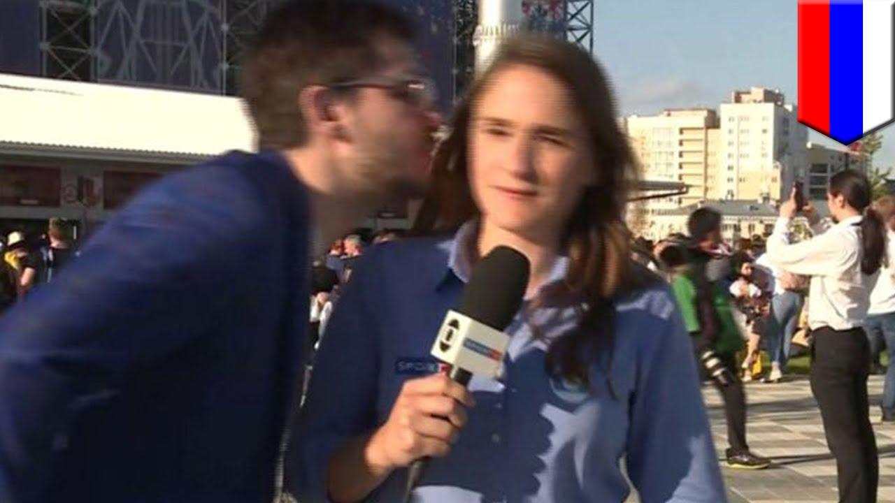 美人リポーター ワールドカップ中継中にキス迫られブチ切れ – トモニュース