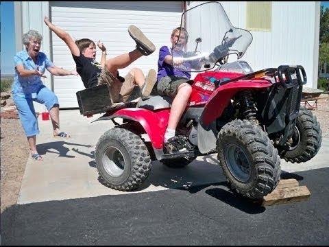 【面白い 映像】4輪バギーでウィリーを – 世界で最も愚かなゴールハプニング 動画集