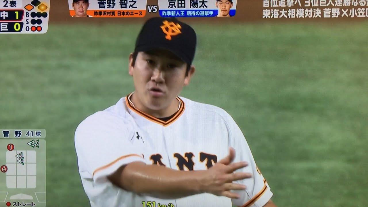 菅野ブチ切れ ストライク判定がおかしすぎるw