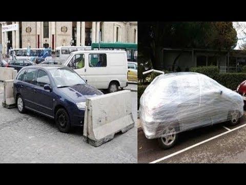 【衝撃】マナー違反な駐車をする車への制裁がハンパないww衝撃のインパクト画像!
