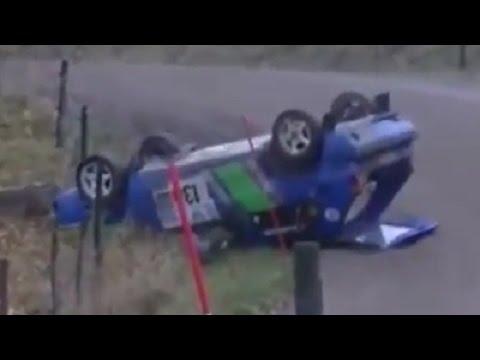 【危険】レース中に山道で思いっきり追突したラリーカーがヤバすぎる!