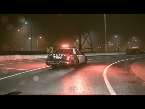 ランエボを追跡していた警察がドリフトして事故 ps4