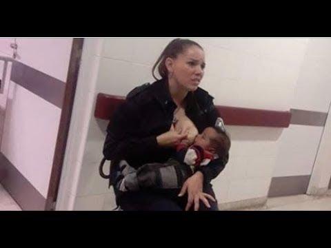 【世界を席巻した一枚の写真】見ず知らずの赤ちゃんに授乳させる女性警察官