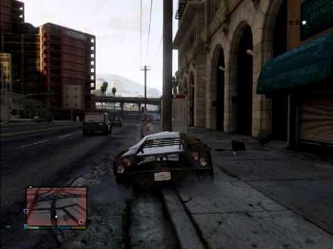 スーパーカーの限界を警察とか崖っぷちでためしてみたwww(GTA5)