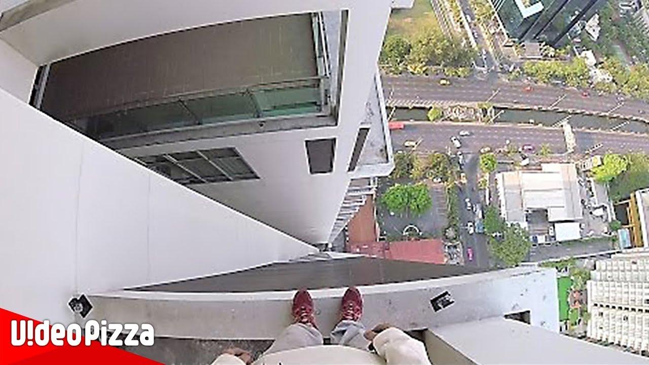 【パルクール】高層ビルの間を飛ぶ!?危険だけどかっこいい神業まとめ!【Video Pizza】