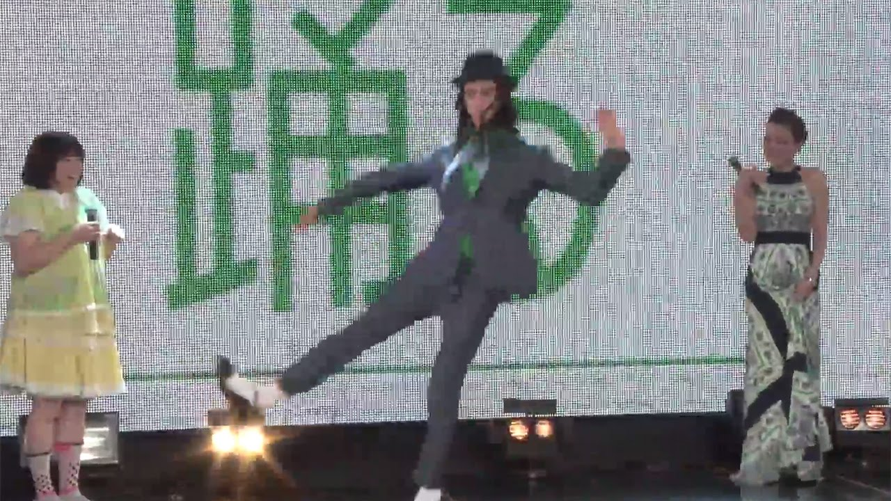 """スッキリ?栗原類が無表情""""不思議ダンス"""" 黒沢かずこはいつもの歌を…「クロレッツ」イベント2 #Hiroshi Tamaki #event"""