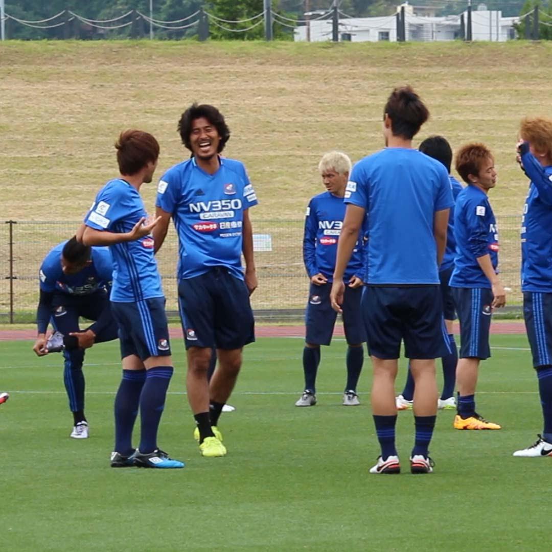 オフ明けの横浜F・マリノスの練習は、リラックスモード!
