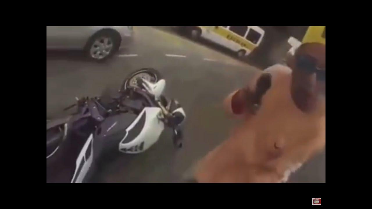 【閲覧注意】バイク強盗が逆にオッサンから射殺される‥‥ HDTV