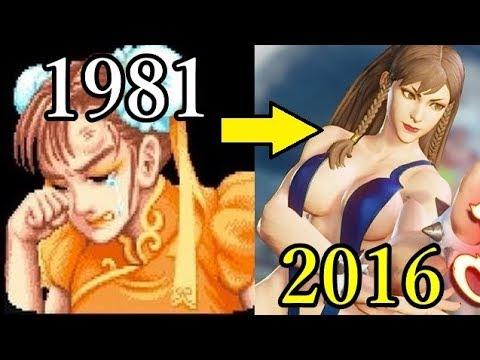 【春麗】初代ストⅡ~ Street Fighter V 歴代の変化