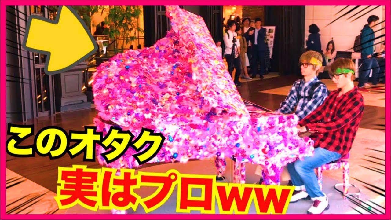 【ピアノドッキリ】もしもオタクがプロのピアニストだったら。。(千本桜・Street Piano)