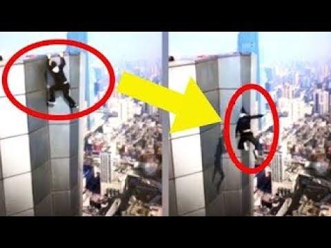 中国の登ってみた系Youtuber 失敗して転落死