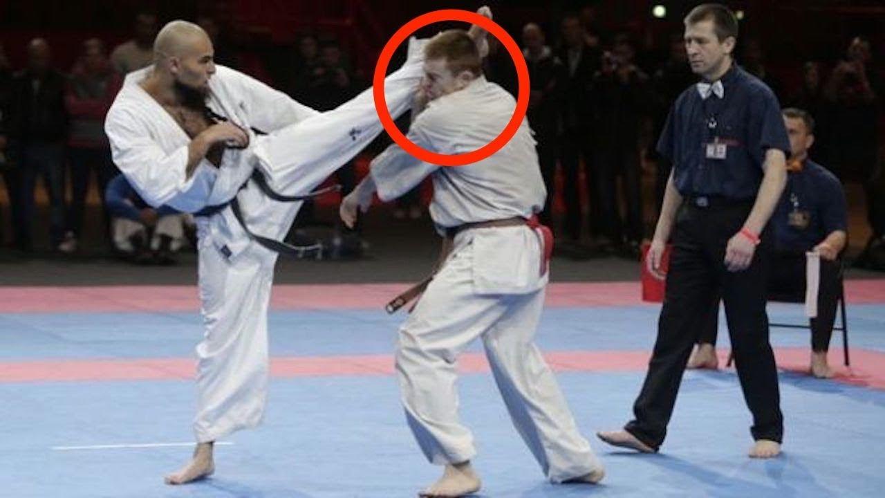 【格闘技】これは痛々しい…【空手】極真空手の、絶対に痛い!KO10選【karate】