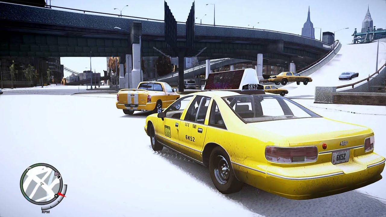 GTAIV 雪のリバティーシティーでアクシデント多発
