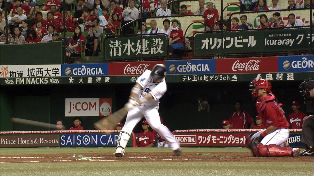 【プロ野球パ】森友哉がスゴ技! バウンドしそうな球を二塁打に 2015/06/09 L-C