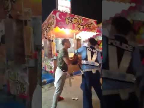 【大乱闘】福岡の祭で若者DQNが警察相手に大暴れ!警察の首を締める
