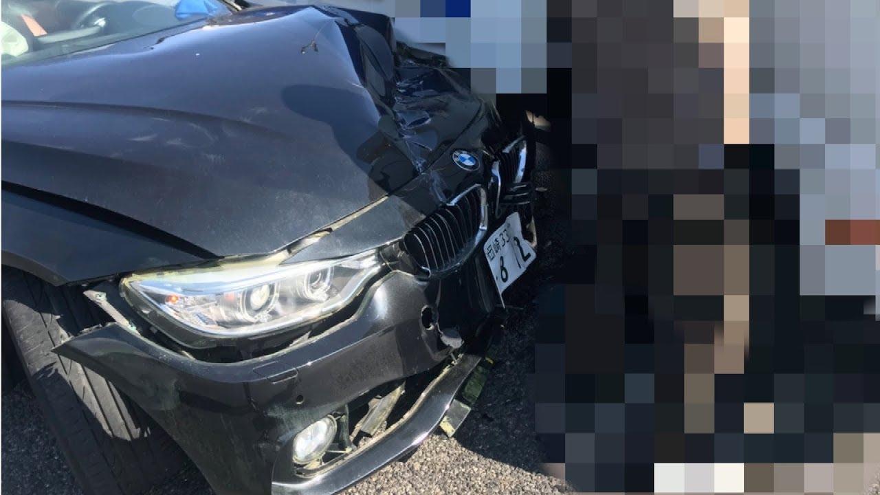 【悲報】てつやの愛車BMWが大破してしまいました…
