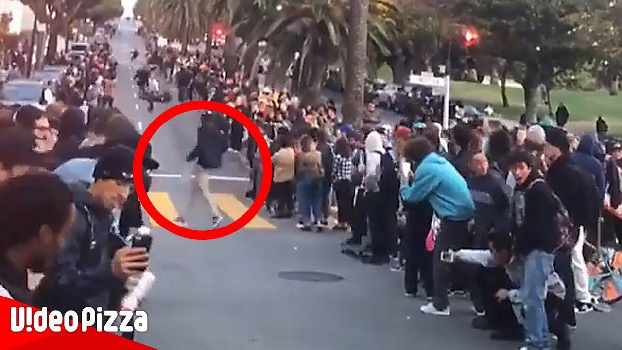 【危険】絶叫スピードレースに人が割り込む衝撃動画【Video Pizza】