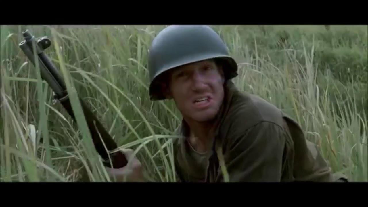 米兵が日本軍にフルボッコにされるシーン(japanese army vs us army) Guadalcanal.1942