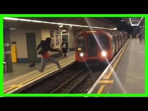恐怖!極限玩家跳月台 差一秒就被列車撞死