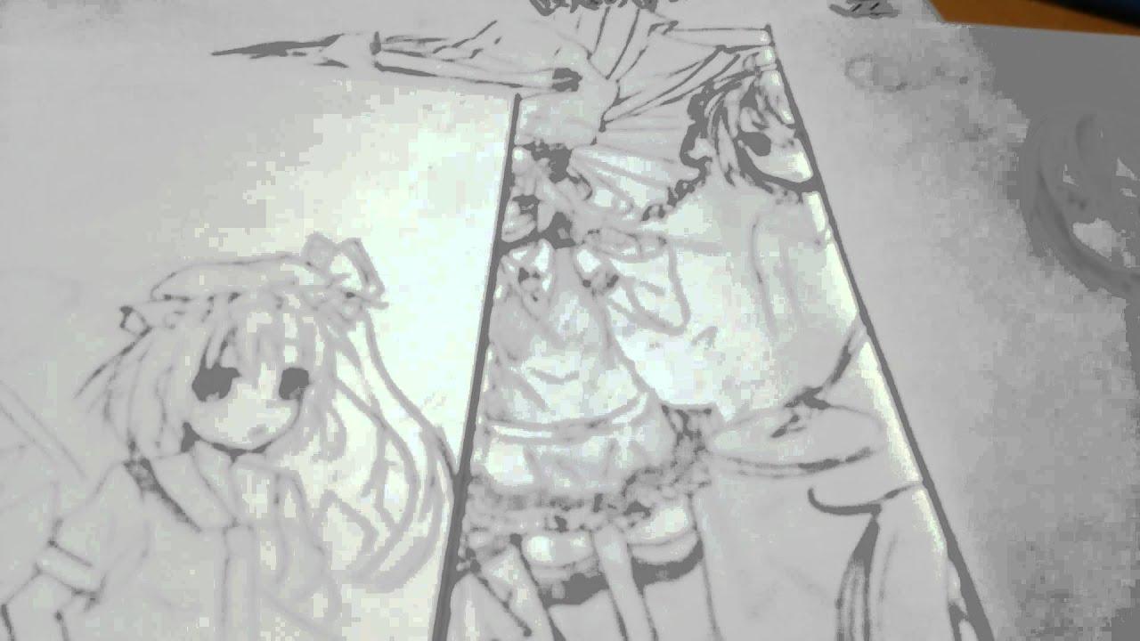 (雑談)授業中に描いた落書きを晒す!!〈バカ吉〉