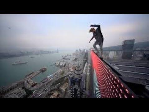 【パルクール】危険だけど!ビルの屋上を飛び交うクレバー達【神業】parkour free running