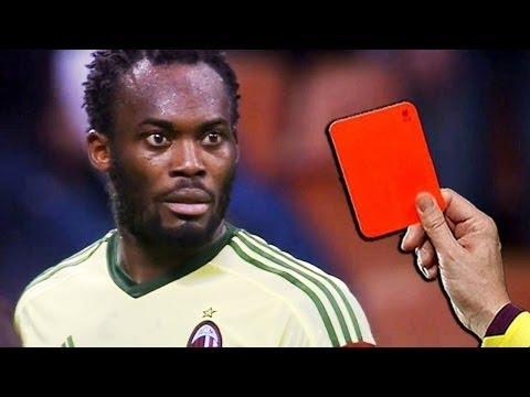 サッカーの歴史の中で最高の面白いレッドカード