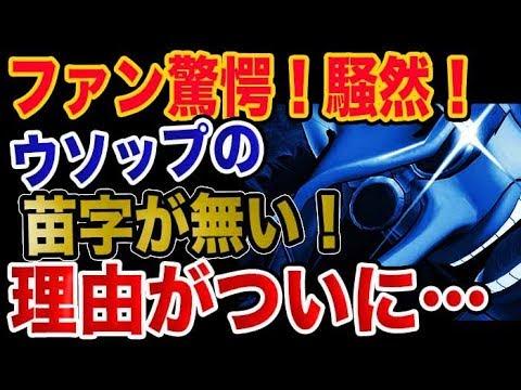 【ワンピース ネタバレ 考察】ウソップの苗字が無い理由にファン騒然!驚愕!!