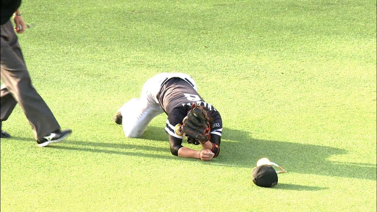 【プロ野球パ】なんというプレーだ!!今宮が超絶キャッチ! 2014/06/08 T-H