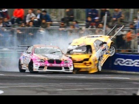 衝撃映像! D1史上最悪のクラッシュ!  お台場ドリフト #lovecars #nissan #drift #d1gp #BMW #skyline