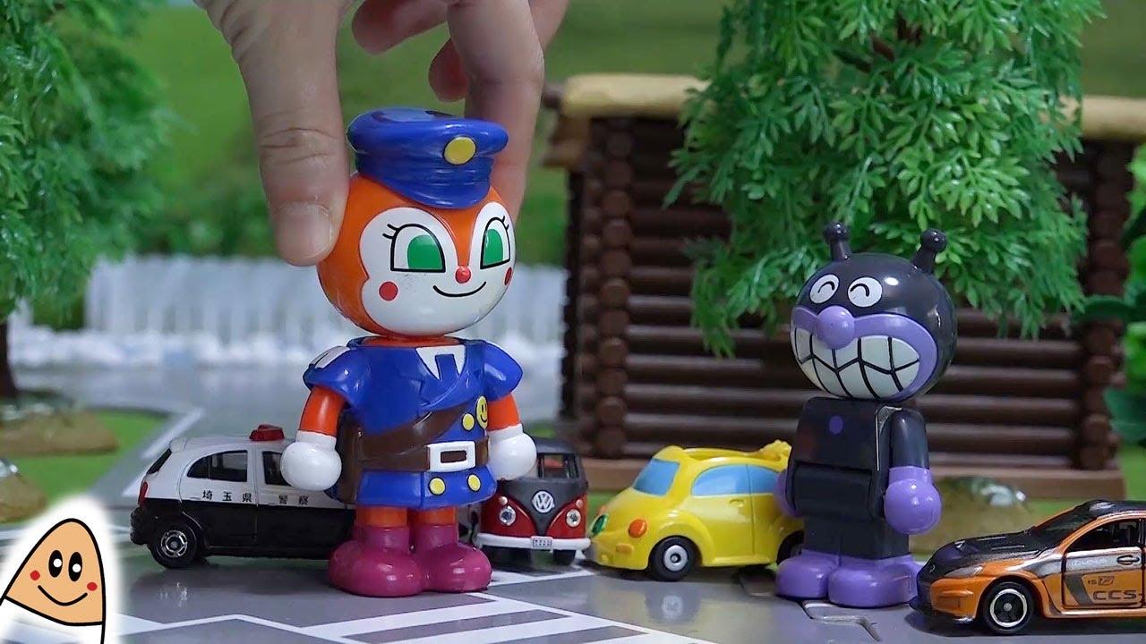 【暴走バイキンマンと警察ドキンちゃん】 アンパンマン おもちゃアニメ