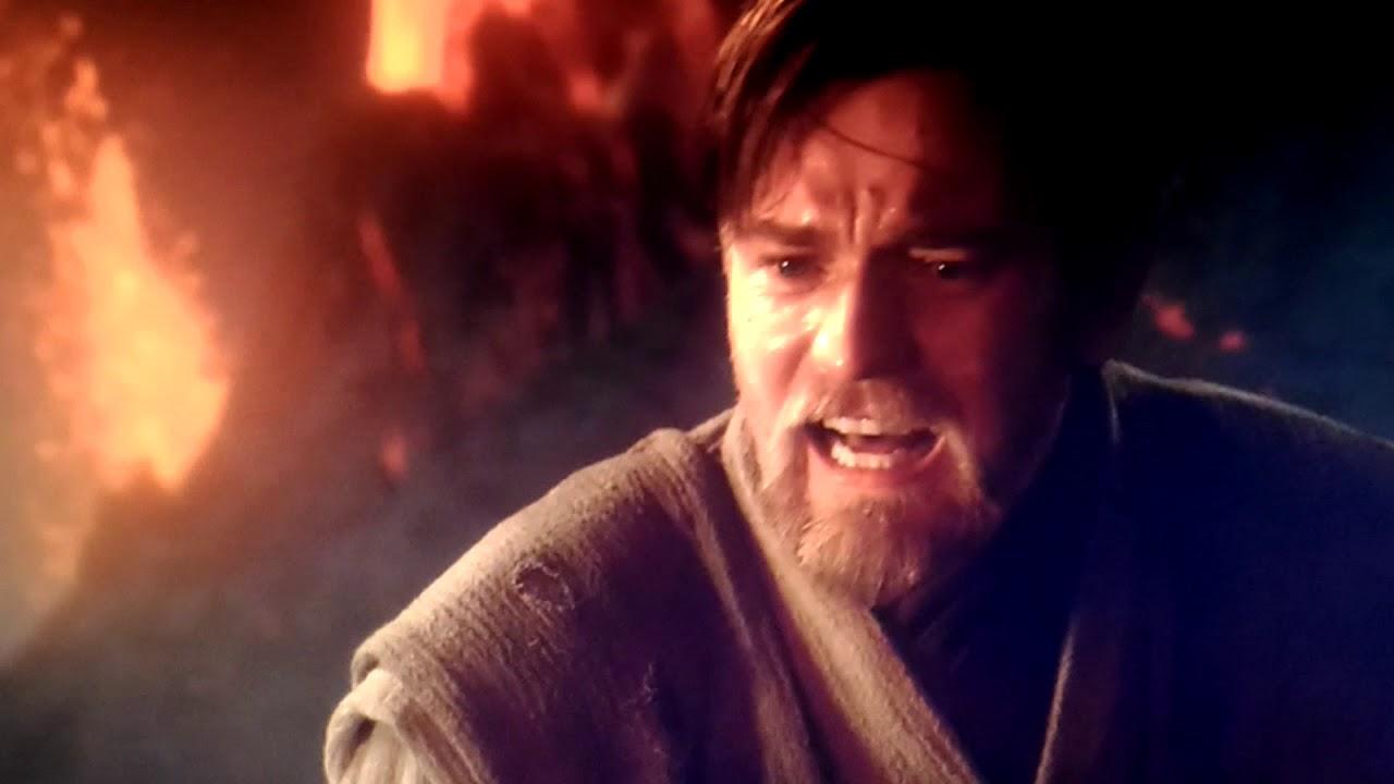 Star Wars EP3 シスの復讐 アナキンとオビワン 対決シーン (グロ注意)