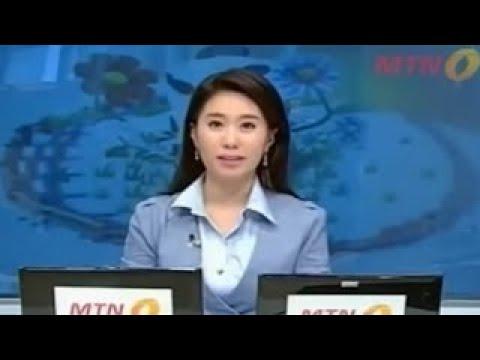 【放送事故】外国人女子アナがテレビ放送中に、気絶してセットに激突。